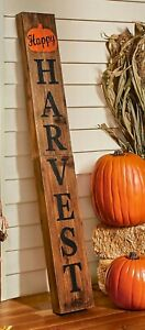 """4 Foot """"HAPPY HARVEST"""" Wooden Thanksgiving Porch Home Welcome Sign"""