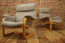 60s Retro EASY CHAIR DANISH LOUNGE ARMCHAIR CANTILEVER FAUTEUIL wool Vintage 1/2