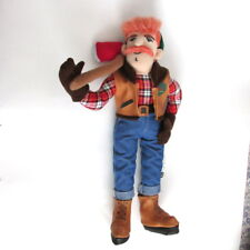 Logger with axe plush doll boots jeans gloves logging 17""