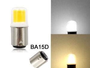 BA15D 1142 LED Car bulb Boat light COB 1511 DC12V 3W Ceramics Lamp Warm/White