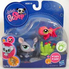 Nib Littlest Pet Shop Armadillo & Spotted Pink Lizard/Gecko Salamander Free Shp