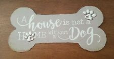 DOG Paw Embossed Metal Sign - Pet Bone Home Wall Decor