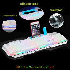 Multimedia 3 colors illuminated LED Backlight USB Wired PC Gaming Keyboard