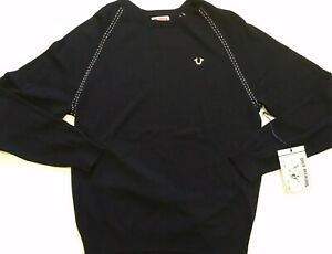 True Religion  Crew Neck Black Thin Sweater Medium M  No Tag