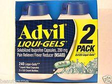 Advil LIQUI-GELS Solubilized Ibuprofen Capsules 200 mg, 240 Liqui-Gels