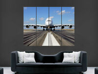 AIRBUS A380 TAKEOFF  AEROPLANE  GIANT WALL POSTER ART PICTURE PRINT LARGE