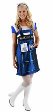Dr Doctor Who TARDIS Police Call Box Dress Women's Adult Costume - Large CosPlay