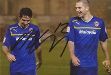 CARDIFF: MATTHEW CONNOLLY SIGNED 6x4 ACTION PHOTO+COA