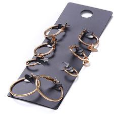 4 Pairs/Set Gold Silver Sleeper Mini Hoop Earrings Girls Ladies Men L