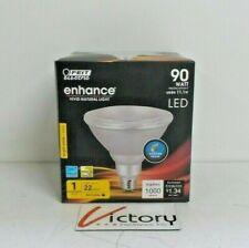 NEW Feit Enhance Vivid Natural Light Bulb | 90W LED Flood Light - Bright White