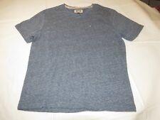 Mens Hilfiger Denim American Brand short sleeve t shirt Navy Blue Hthr S NWOT