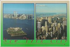 Views of Ellis Island, New York City and World Trade Center Modern Postcard