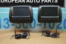 10-13 W221 MB S63 S550 S600 FRONT RIGHT & LEFT HEADREST W/ DVD PLAYER TV SCREENS