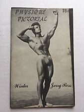 Winter 1955 Physique Pictorial Gay Erotica Jerry Ross Cover Lots of Erotica Art