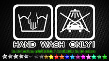 Mano Wash only! Sticker Adhesivo coche car tuning syling 15cm x 8cm