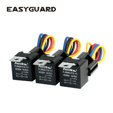 EASYGUARD SPDT car Relay Automotive Relay with Socket Wires DC12V 30/40 AMP 5pin