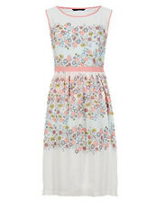 M&S Collection 70s Bohemian Floral Fit & Flare Prom Dress BNWT