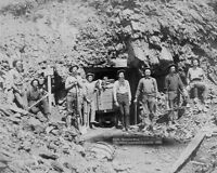 MONTANA MINE OLD WEST 1889 GOLD MINERS 8x10 SILVER HALIDE PHOTO PRINT
