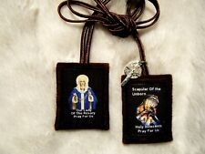 Scapular of the Unborn Brown Scapular 100%Wool Handmade in USA