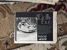 U2-1 ephemera 1971 advert the dolly bug bond bug motor car reliant motors