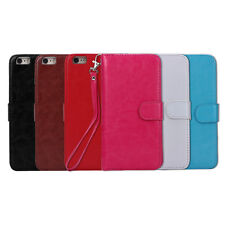Faux Leather Cell Phone Cover Case Magnetic Filp Wallet Purse Card Cash Holder