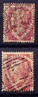 GB 1870 QV 1 1/2D lake red plate 1 (without plate-No) + plate 3 (with plate-No)