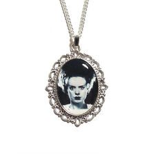 The Bride of Frankenstein gothic necklace monster silver UNIVERSAL STUDIOS 1935