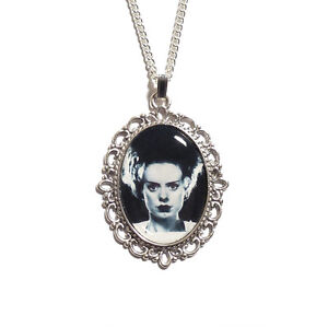 The Bride of Frankenstein gothic necklace monster silver UNIVERSAL STUDIOS 1935
