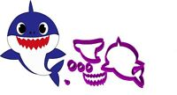 Baby Shark Doo Doo Cookie Fondant Cutter 5cm 7cm 10cm Set of 3