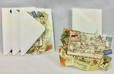 """Lot of 12 Punch Studio Christmas Cards 5 Designs 3 3/4"""" by 5 1/4"""" Envelopes"""
