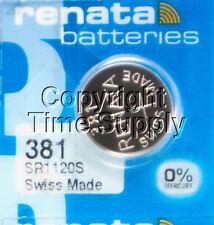 Sr1120Sw Free Ship 0% Mercury 2 pc 381 Renata Watch Batteries