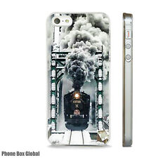 NEW STEAM TRAIN RAILWAY ART CASE FITS IPHONE 4 4S 5 5S 5C 6 6S 7 8 SE PLUS X XS