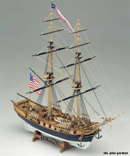 "Intricate, Detailed Wooden Model Ship Kit by Mamoli: the ""Lexingtson"""