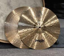"More details for paiste vintage 802 hi hat cymbals 14"" #640"
