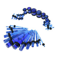 32pcs Gauges Kit Tapers and Plugs Acrylic Tunnels 14G-0G Ear Stretching