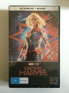 NEW Captain Marvel VHS Limited Edition 4K Bluray Brie Larson Jackson Law Bening