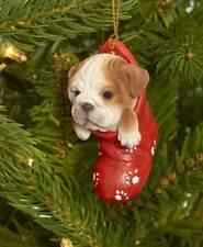 Dog & Cat Ornaments Christmas Tree Ornament Holiday Decor Bulldog in Stocking