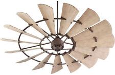 "NEW 72"" Quorum Windmill Ceiling Fan Bronze 97215 Farmhouse  Light Kits Available"