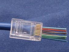 50Pcs CAT6 Plug EZ RJ45 Network Cable Modular 8P8C Connector End Pass Through