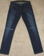 Looks New Womens Lucky Brand Jeans Sz 4 Cate Stacked Whiskered Skinny Distressed