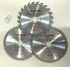 *3PC Circular Saw Blades 185mm 24T,48T,60Teeth 30MM BORE With 3 Reduction