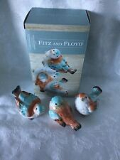 Fitz And Floyd English Garden Bird Figurines Set/3 Collectible W/ Box