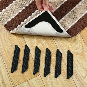 4/8Pcs Bathroom Room Carpet Rug Mat Anti-Slip Double-side Adhesive Fixed TaOD