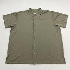 Wilke-Rodriguez Button Up Shirt Mens 2X XX Big Tan Short Sleeve Straight Hem