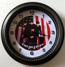 "THE BEATLES 12"" WALL CLOCK - ""US FLAG SETTING"" - NEW IN BOX"