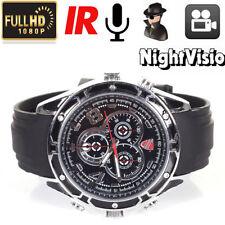 Full HD 1080P Waterproof Spy Camera Watch IR Night Vision Hidden Cam 8GB