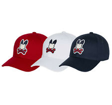 Psycho Bunny Men's Sports Baseball Cap Embroidered Logo Cotton Strapback Hat