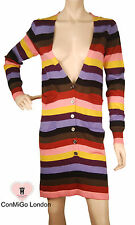ConMiGo 205 Striped Multi Coloured Long Cardigan Dress
