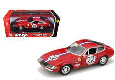 Bburago 1:24 Ferrari 365 GTB4 Competizione #22 Diecast Model Racing Car Vehicle