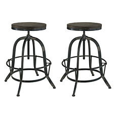 Modway Collect Bar Stool Set of 2 - Black